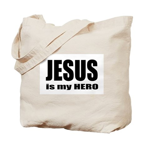 Jesus is Hero Tote Bag