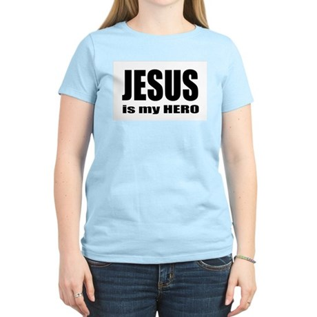 Jesus is Hero Women's Pink T-Shirt