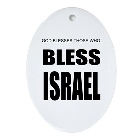 Bless Israel Oval Ornament