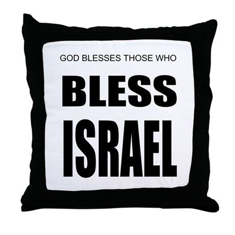 Bless Israel Throw Pillow