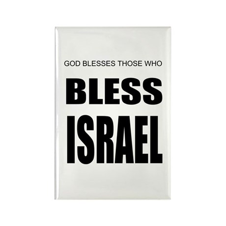 Bless Israel Rectangle Magnet (100 pack)