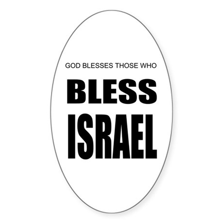 Bless Israel Oval Sticker