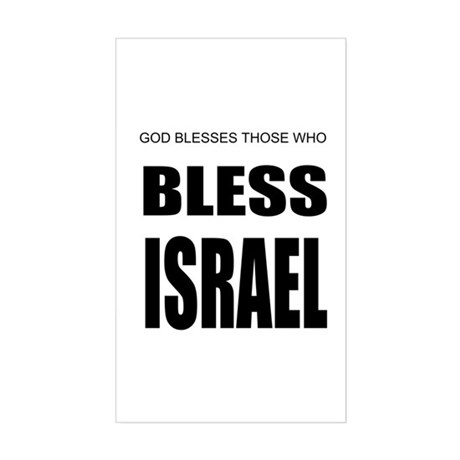 Bless Israel Rectangle Sticker