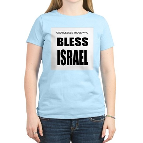 Bless Israel Women's Pink T-Shirt
