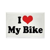 I Love My Bike 3 Rectangle Magnet (10 pack)