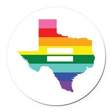 Texas equality Round Car Magnet