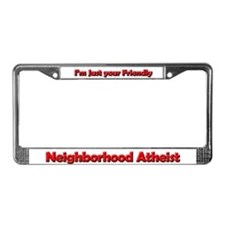 Neighborhood Atheist License Plate Frame