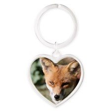 Fox001 Heart Keychain