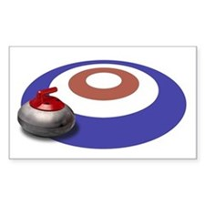 CURLING Rectangle Decal