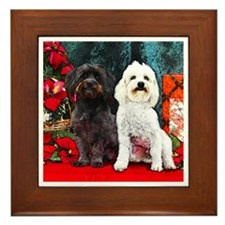 Havanese Christmas  Framed Tile