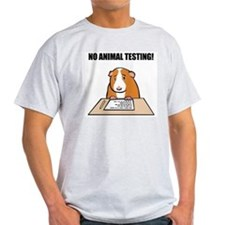 No Animal Testing! Ash Grey T-Shirt