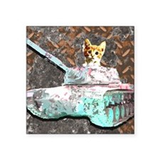 "Cat Tank Square Sticker 3"" x 3"""