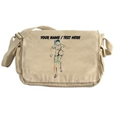 Custom Female Soccer Player Messenger Bag