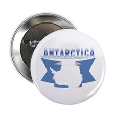 "Antarctic flag ribbon 2.25"" Button (10 pack)"