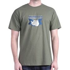 Antarctic flag ribbon T-Shirt
