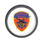 Downey Police Wall Clock
