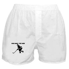 Custom Hockey Player Boxer Shorts