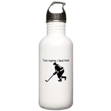 Custom Hockey Player Sports Water Bottle