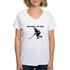 Custom Hockey Player T-Shirt