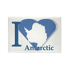 I love antarctic Rectangle Magnet