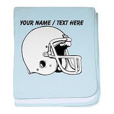 Custom Football Helmet baby blanket