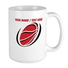 Custom Red Basketball Mugs