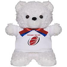 Custom Red Basketball Teddy Bear