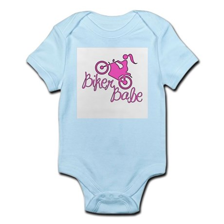 Biker Babe. Cute, pink, sexy Infant Bodysuit