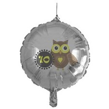 10 Years Old Cute Owl Balloon