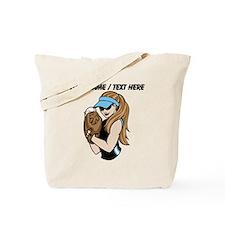 Custom Softball Pitcher Tote Bag