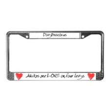 Akita Love on 4 Legs License Plate Frame