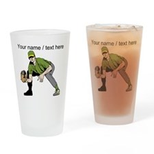 Custom First Baseman Drinking Glass