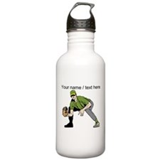 Custom First Baseman Sports Water Bottle