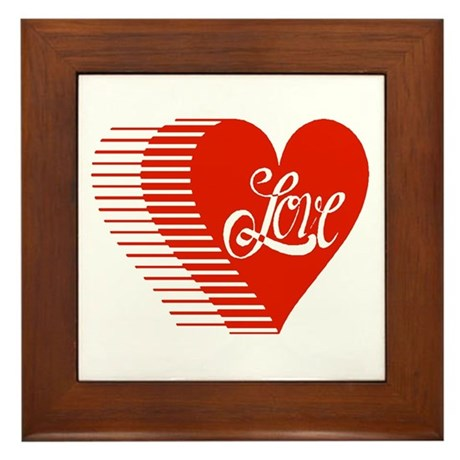 Love Heart Framed Tile