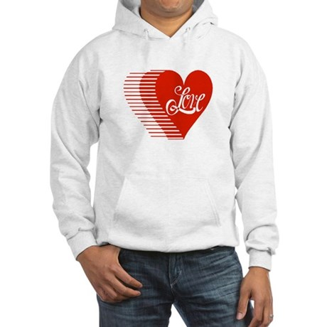 Love Heart Hooded Sweatshirt