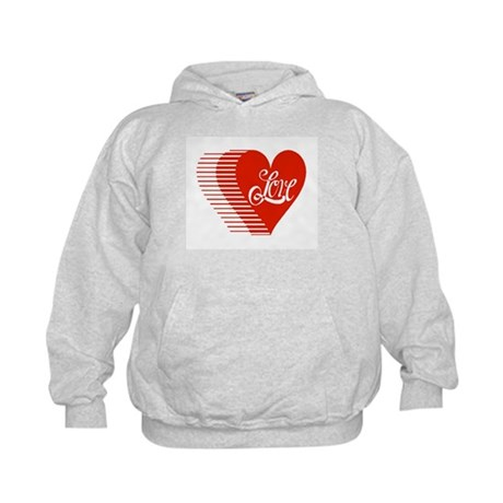 Love Heart Kids Hoodie