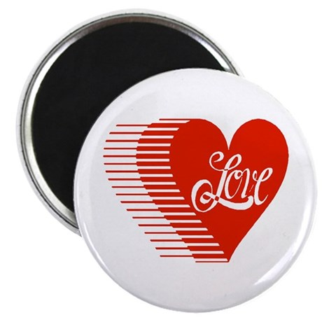 Love Heart 2.25&quot; Magnet (100 pack)