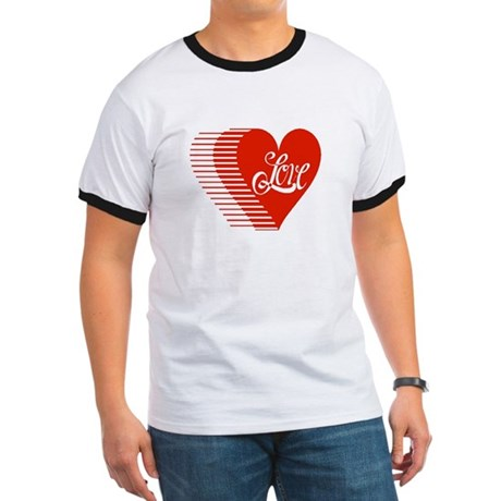 Love Heart Ringer T
