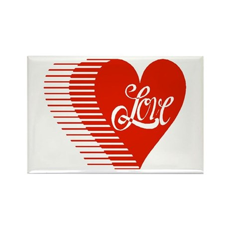 Love Heart Rectangle Magnet (10 pack)