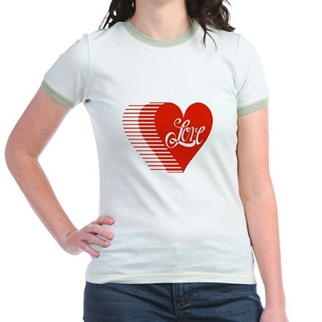 Love Heart Jr. Ringer T-Shirt