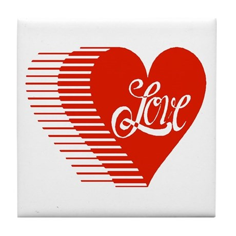 Love Heart Tile Coaster
