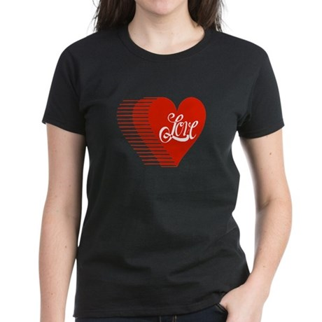 Love Heart Women's Dark T-Shirt