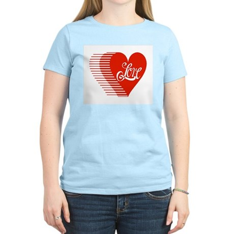 Love Heart Women's Pink T-Shirt