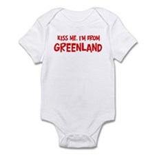 Kiss me Greenland Infant Bodysuit