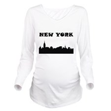 New York Skyline Long Sleeve Maternity T-Shirt