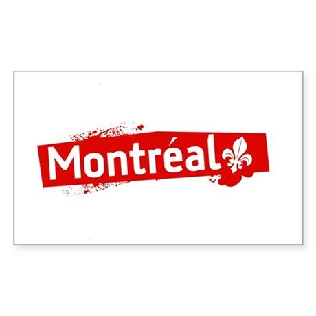 'Montreal' Rectangle Sticker