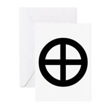 Planet Earth Symbol Greeting Cards (Pk of 10)