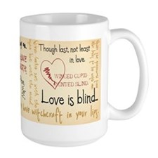 Shakespeare Love Quotes Mug