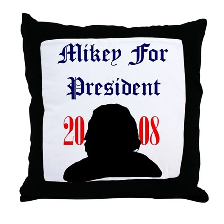 Mikey For President Throw Pillow