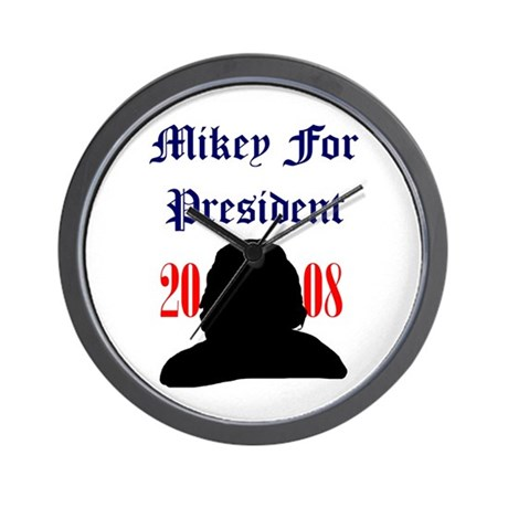 Mikey For President Wall Clock